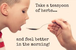 Child taking Chinese Herbal medicine