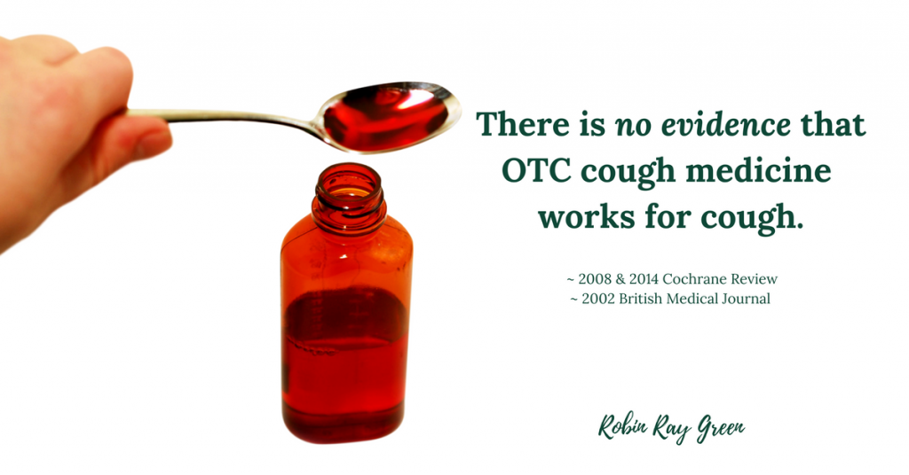 Stop child's cough naturally without OTC medicine