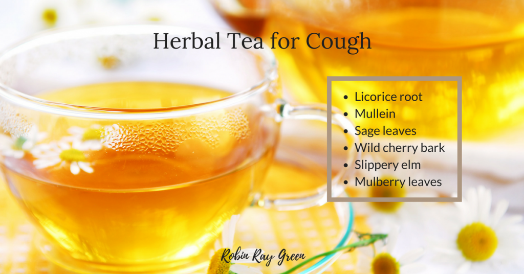 Herbal tea to calm a child's cough