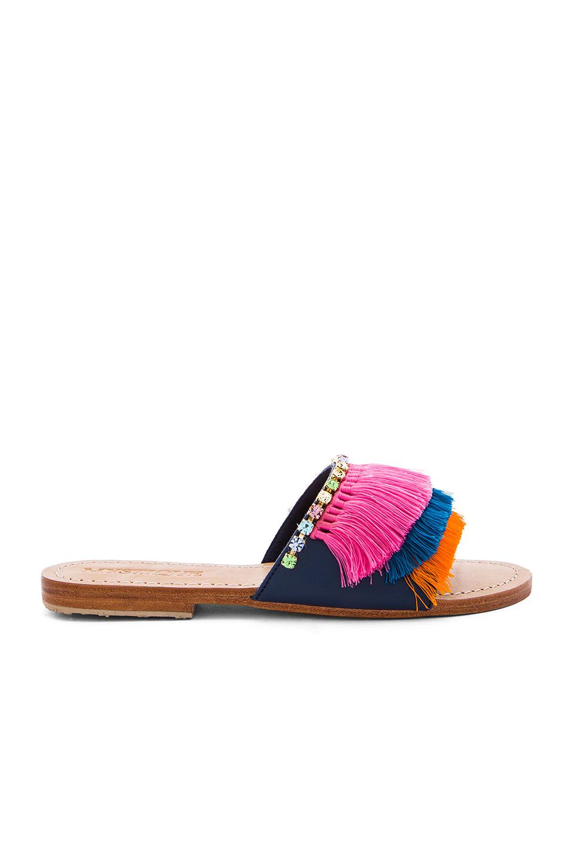 Fringe Slide Sandals