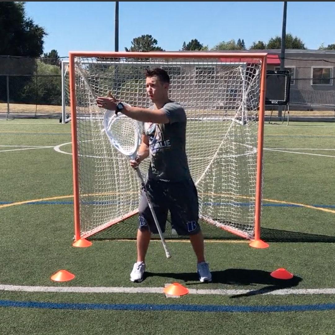 Coach Damon in Goal