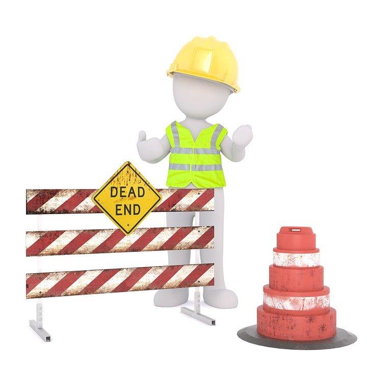 Site, Barrier, Helm, Security, Road Block, Safety Vest