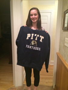After careful deliberation and lots of texts, Anna chose Pitt over Lehigh, Lafayette, Fairfield & Muhlenberg.