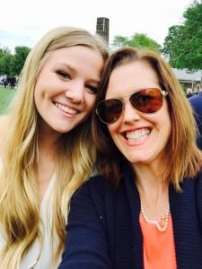Sophie, Class of 2015, with Jessie. #graduationdayselfie