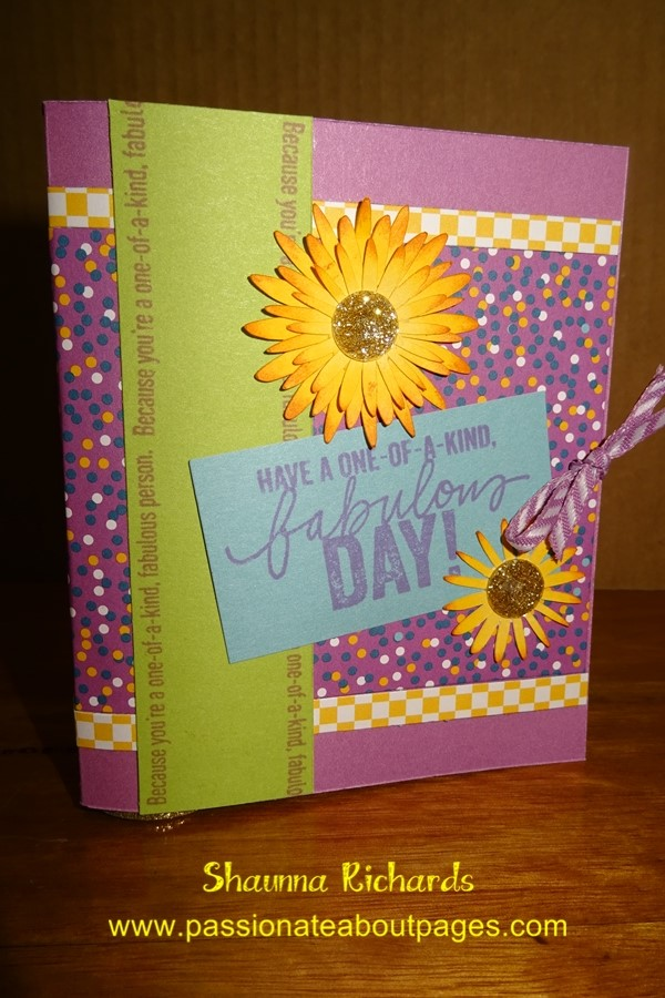 Happy Everything (D1653) teamed with Confetti Wishes and Yellow Daisies... makes me happy!
