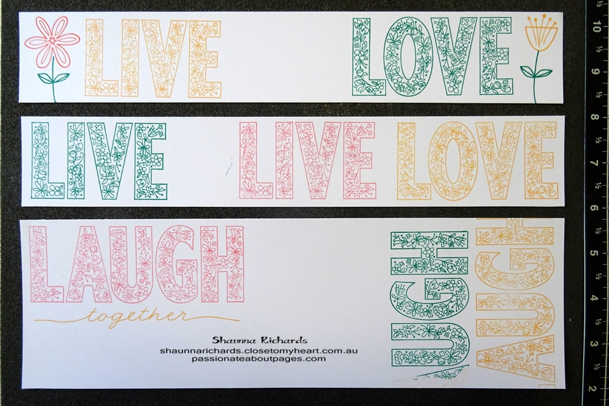 Live, Laugh Love (S1705) is May 2017 Stamp of the Month. Perfect for scrapbookers. www.shaunnarichards.closetomyheart.com.au