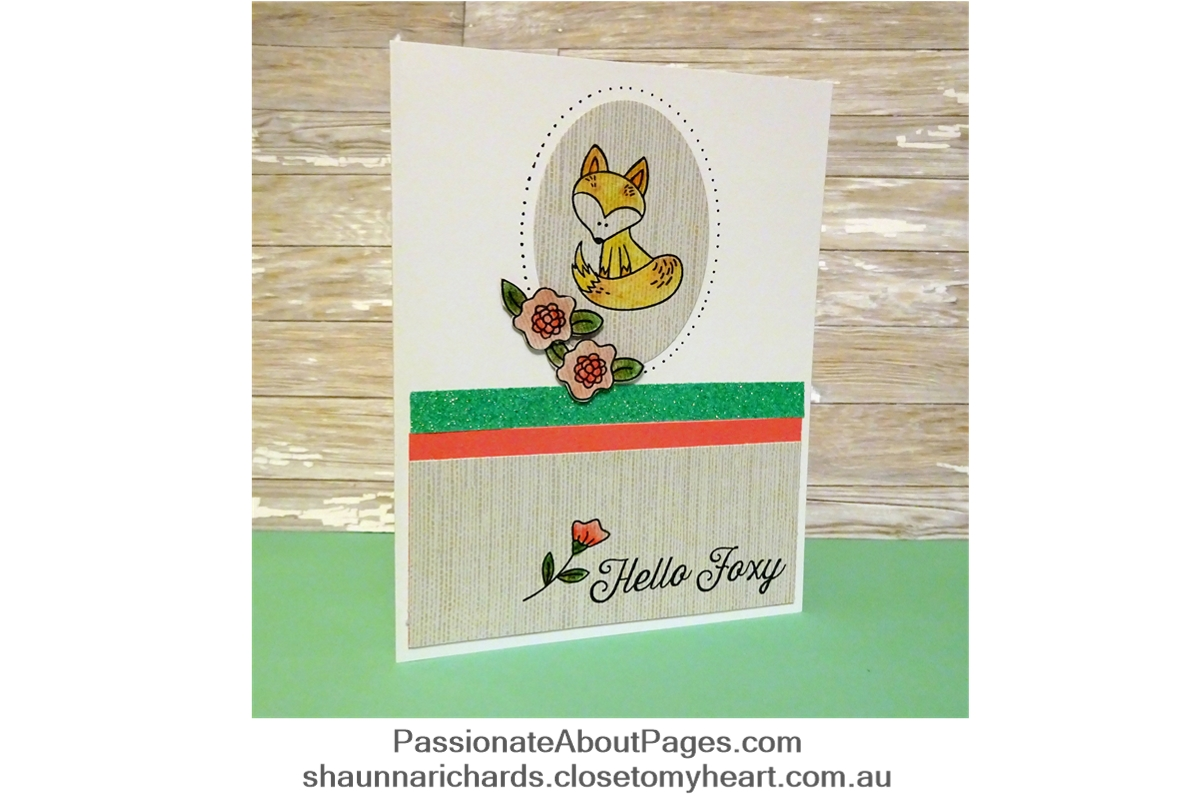 S1706 Hello Foxy is CTMH's Stamp of the Month for July 2017. Order yours at www.shaunnarichards.closetomyheart.com.au