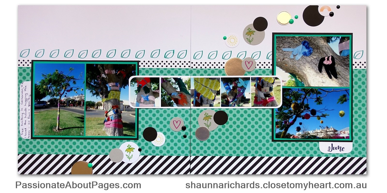 Create whimsical decorations for your pages using S1711 Through the Year stamps by Close To My Heart. www.shaunnarichards.ctmh.com.au