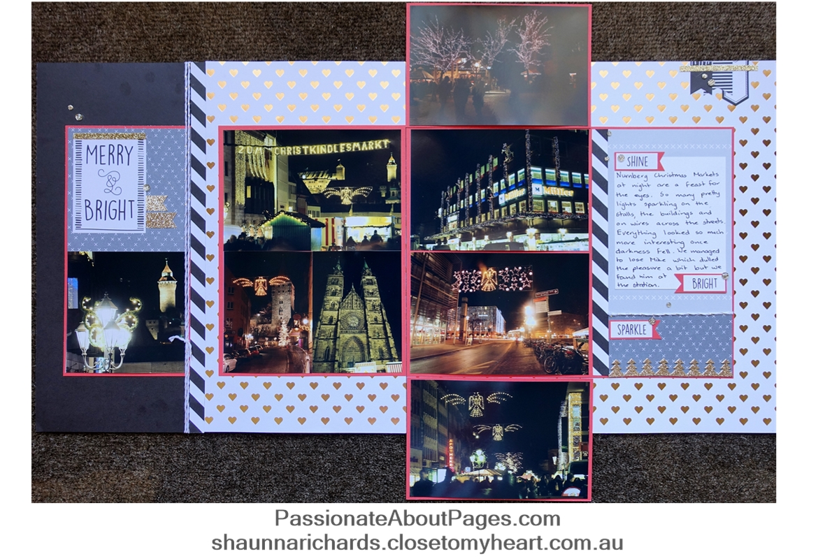 CTMH Silver & Gold Workshop Your Way is perfect for Christmas Market photos Add Flip Flaps so you can include ALL the photos you take.