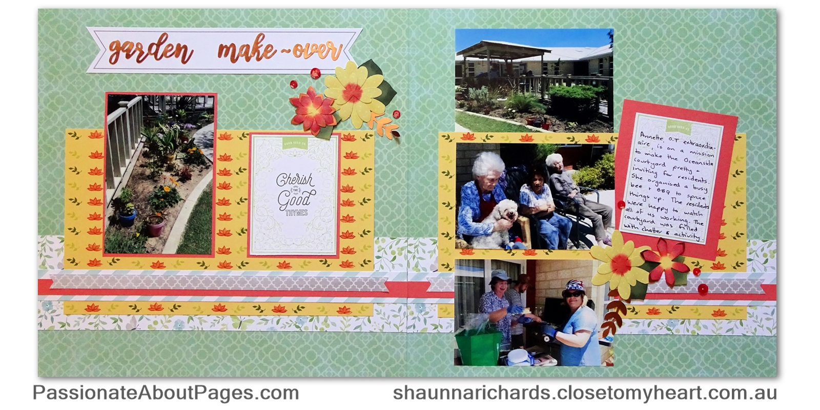 CTMH Stamp of the Month for Jan, 2018 is Bloom & Grow (S1801) with Love Letters flowers and alphabet on Chlesea Gardens paper. Order yours at www.shaunnarichards.ctmh.com.au.