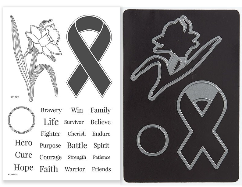 Z4184 Ribbon Warriors stamps and thin cuts availalbe until end of August, 2018 from www.shaunnarichards.closetomyheart.com.au
