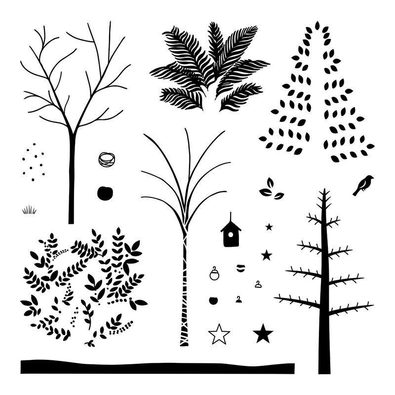 S1811 Seasonal Trees is available for purchase in November 2018 from www.shaunnarichards.closetomyheart.com.au
