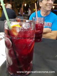 Terrance sipping sangria