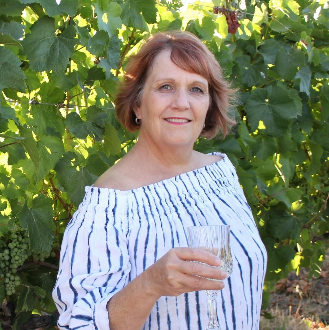 Rebecca in the vineyard
