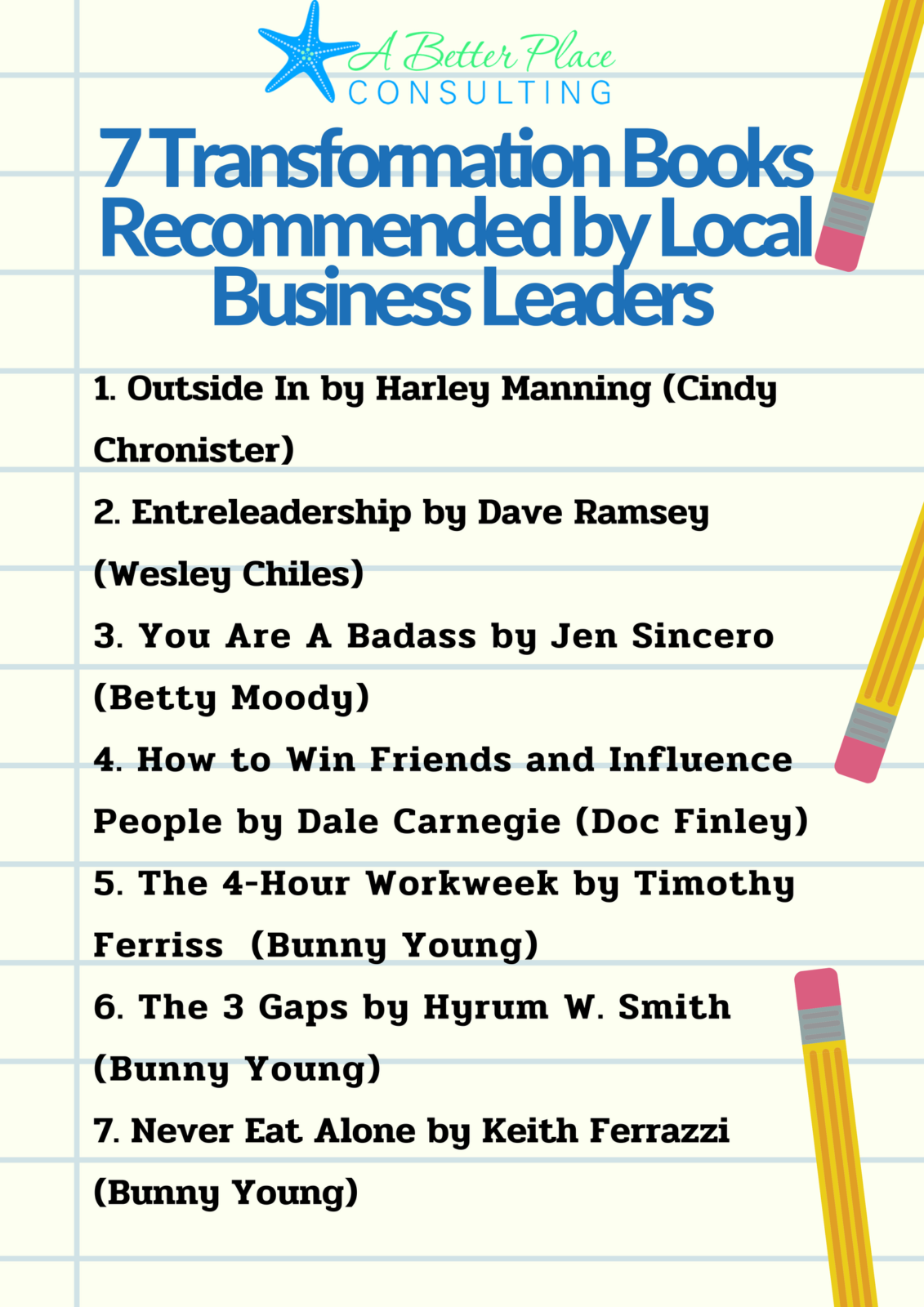 transformational business book recommendations
