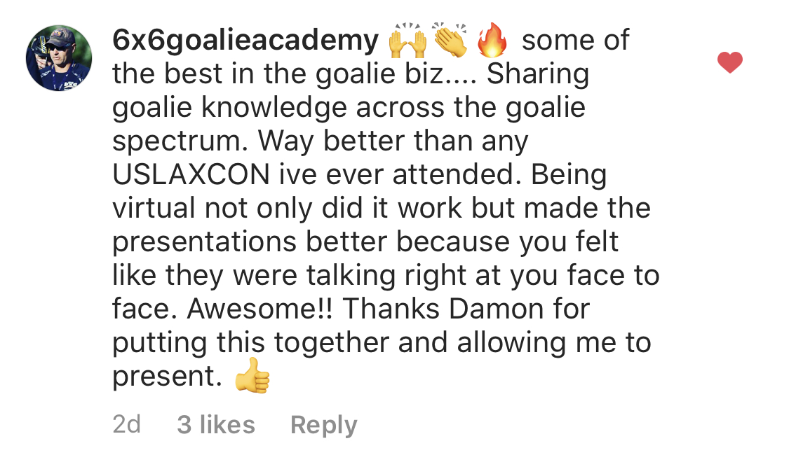 Lacrosse Goalie Summit Testimonial 5