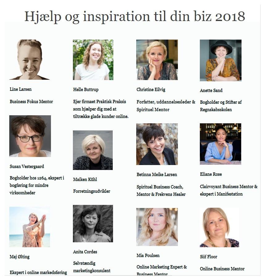 Hjælp og inspiration til din biz 2018