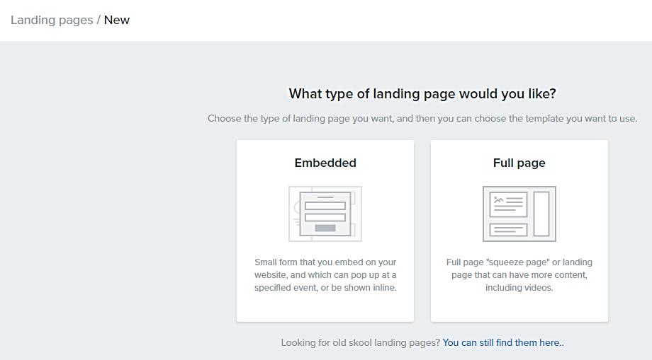 Select_landing_page_type