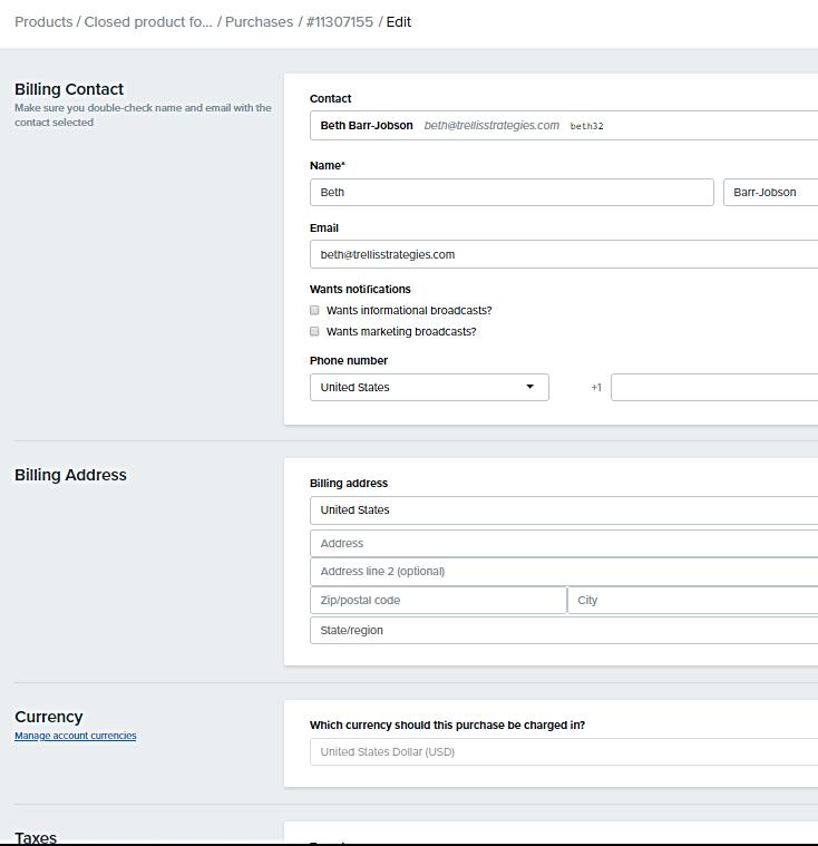 Billing_Contact_Edit_screen