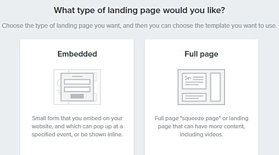 Type_of_landing_page