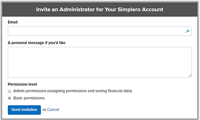 Invite_an_administrator_screen