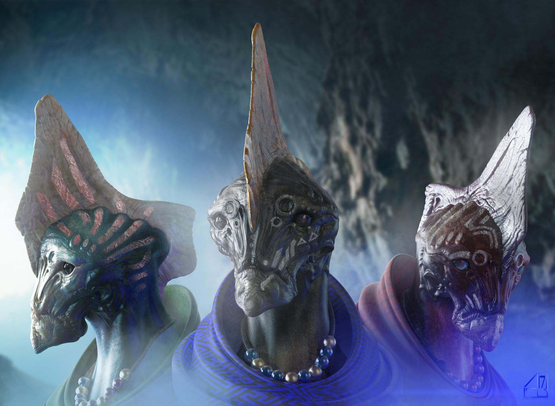 The Matriarchs alien concept by Adrian Bobb