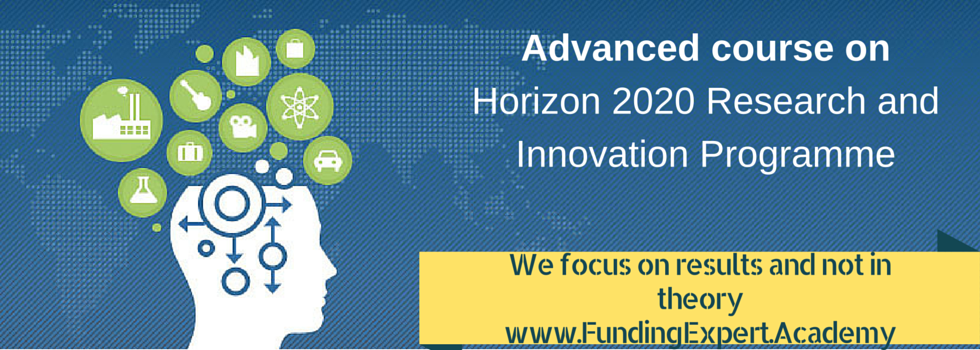 Horizon 2020 RIA and IA training programme banner