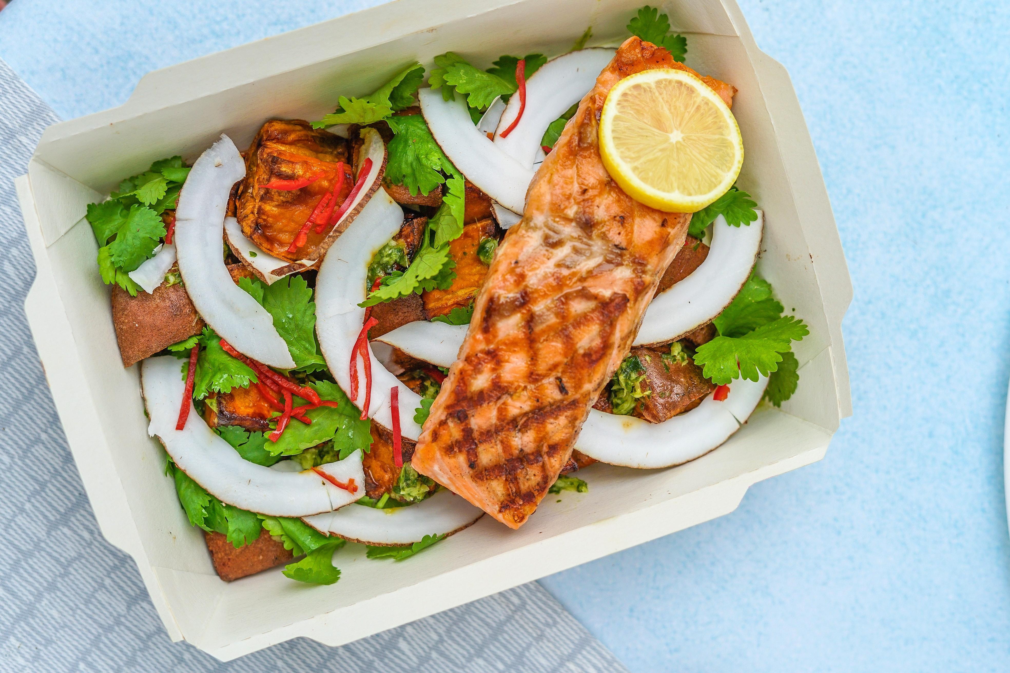 Upscale salmon dinner