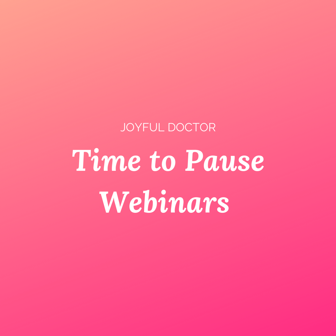 Time to pause webinars