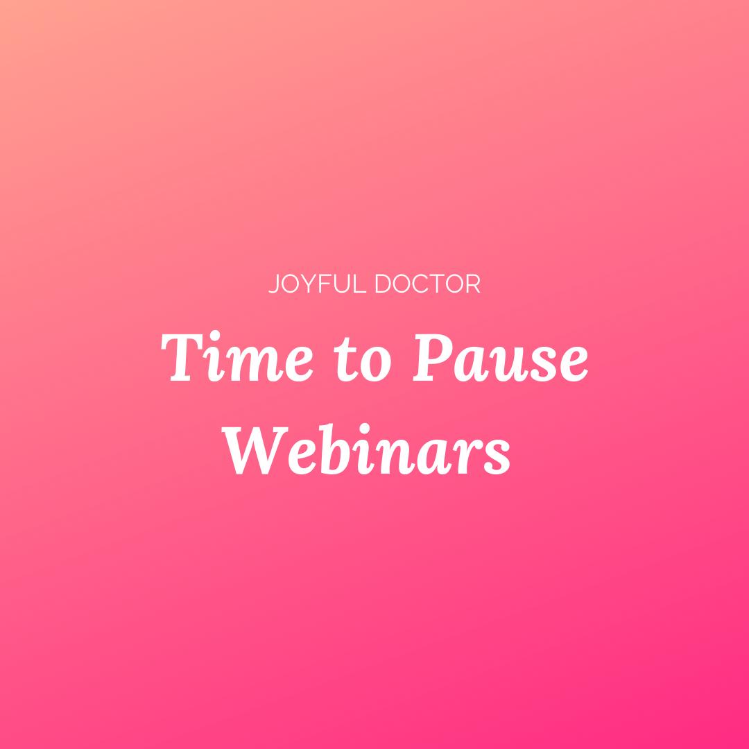 Time to pause webinars