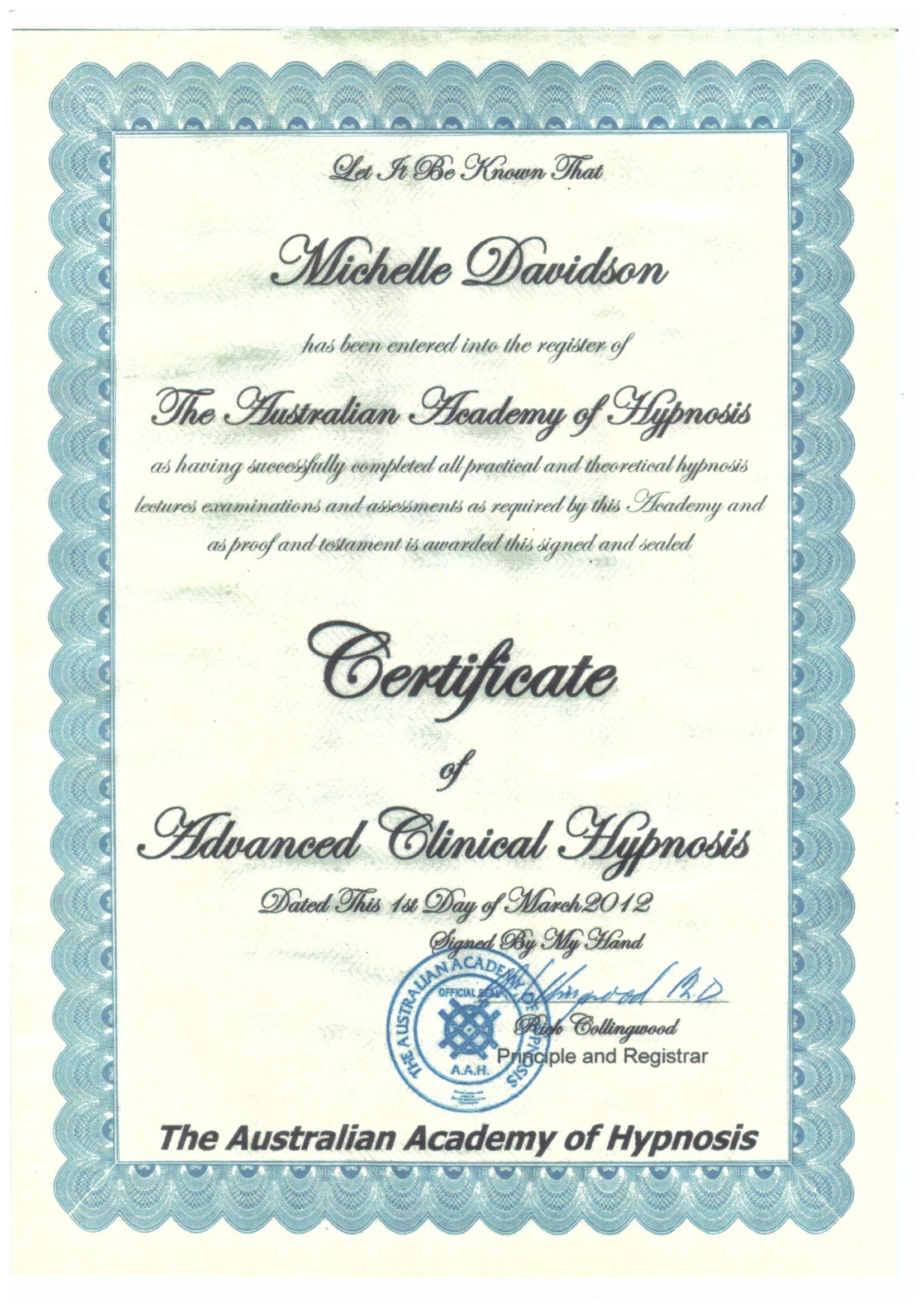 Advanced Clinical Hypnosis 2012