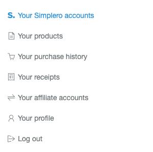 Simplero_Account_tab