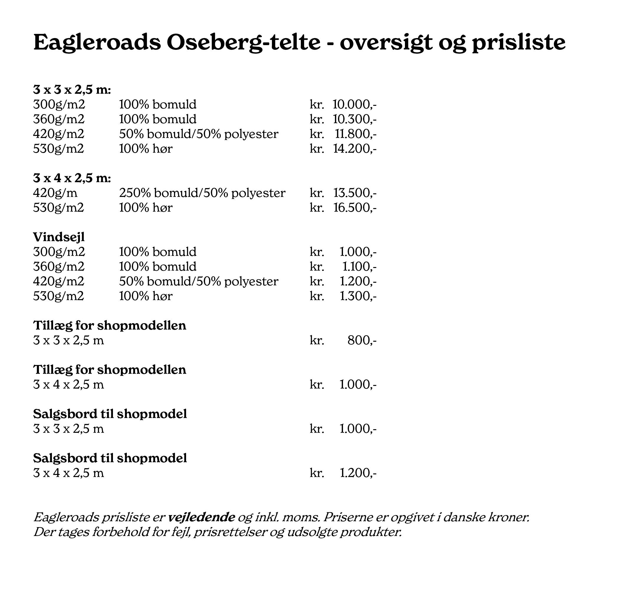 Oseberg telte