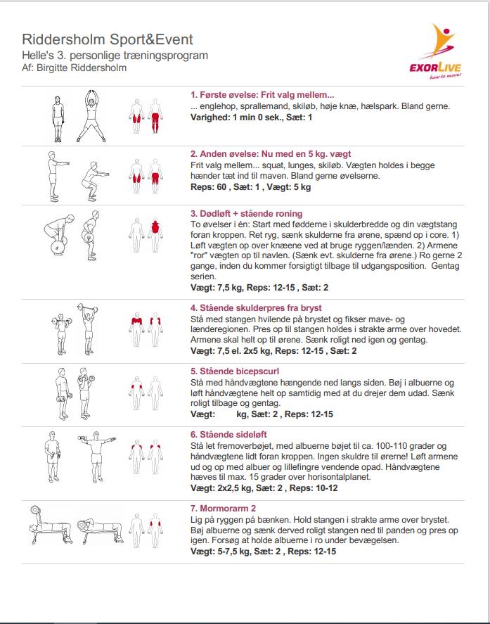 Træningsprogram Coronatræning 1