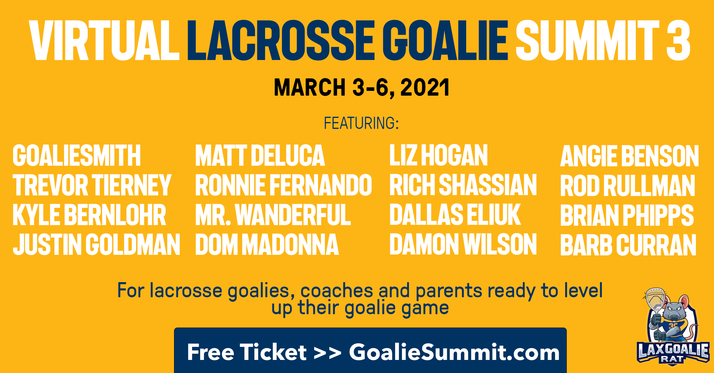 Virtual Lacrosse Goalie Summit 3