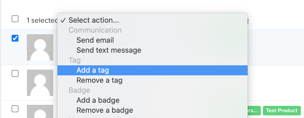 Add a tag screenshot