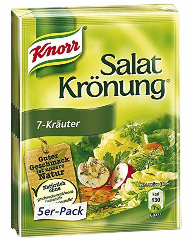 Knorr Salat Kronung, 7 Herb Salad Dressing 5 Pack, (0.3 oz x5)