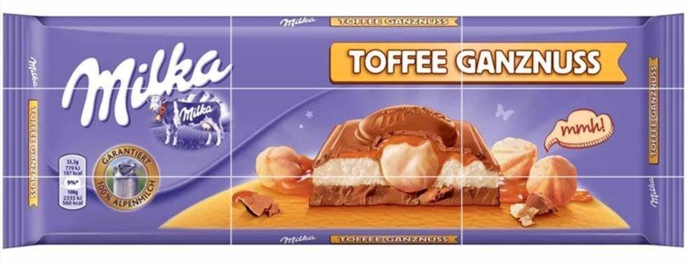 Milka Toffee Whole Nuts, 10.5 oz (300 g)