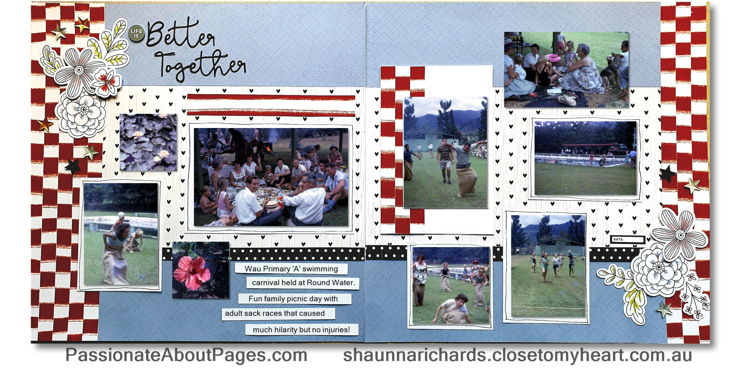 Stars & Sparklers Blog layout