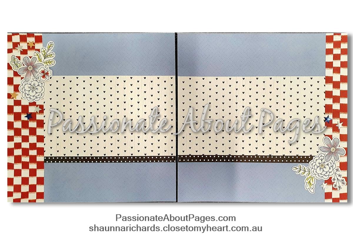 Stars & Stripes blog layout basic