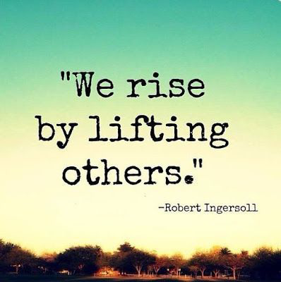 The value of lifting others