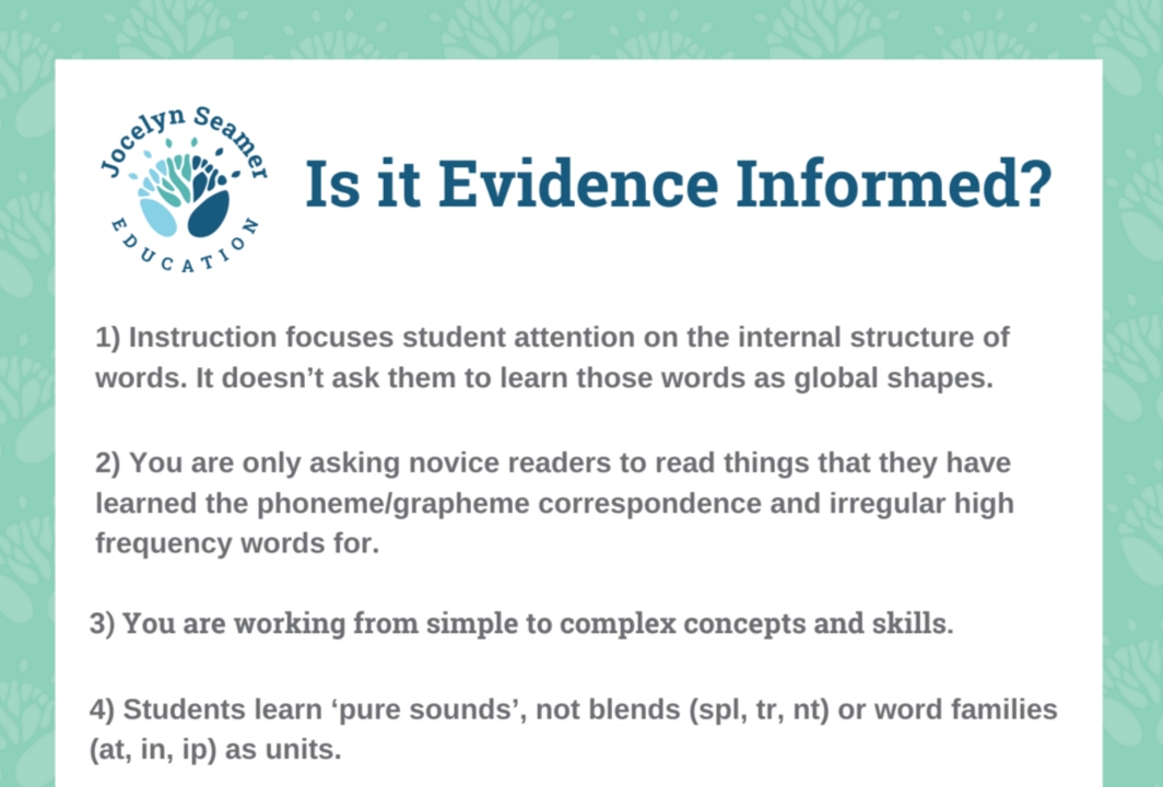 Is it evidence informed