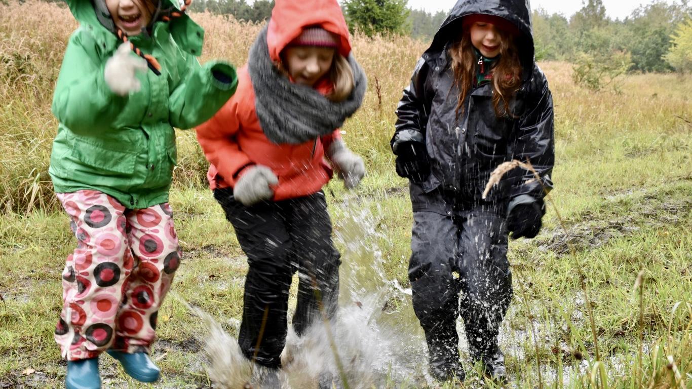 Efterårsferie tur i regnvejr