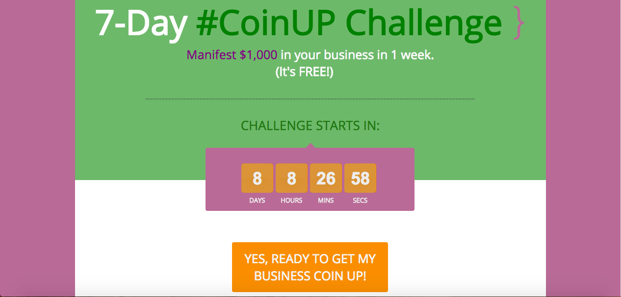 7-Day #CoinUP Challenge