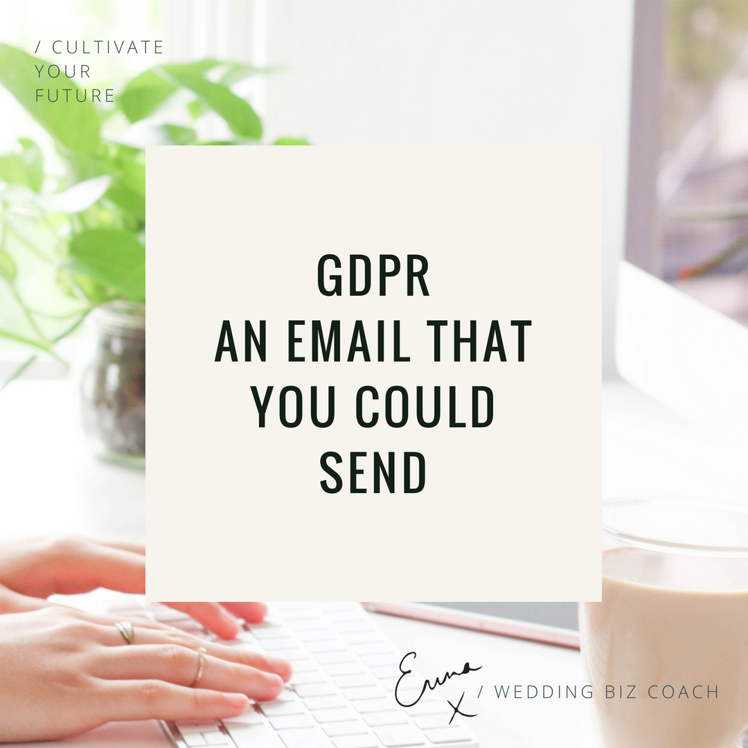 GDPR: An Email You Could Send